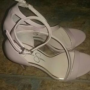 Nude blush heels